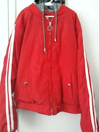 Red junior girls jacket with white stripes (Size L) Las Vegas, 89102