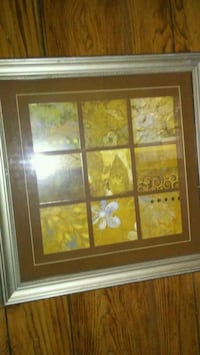 brown wooden framed painting of flowers Pell City, 35125