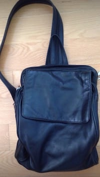 Black genuine leather backpack  Toronto, M8Z 3Z7