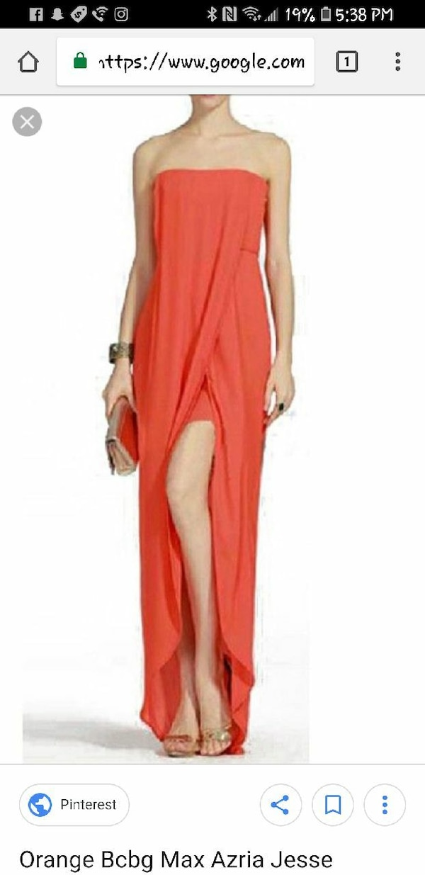 a454fcf931 Used women s red tube slit maxi dress screenshot for sale in West New York  - letgo