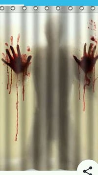 Bloody hands Halloween shower curtain  New Westminster, V3M 3H6