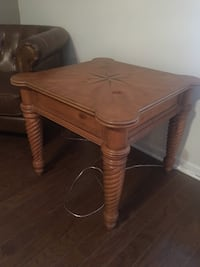 Square Brown Wooden Compass Table Charleston, 29407