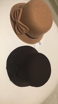 two brown and black bowler hats Suitland, 20746