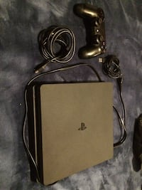 Black sony ps4 console with controller 500gb slim