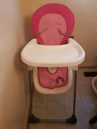 baby's pink and white high chair Toronto, M3N 2K8