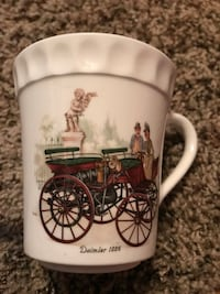 Large mug and small one with saucer Ridley, 19081