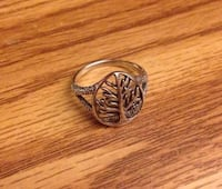Sterling Silver Tree Of Life Ring Caledon, L7E