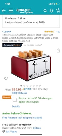 Brand New 4 prong Silver Toaster Las Vegas, 89148