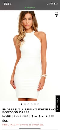 White cocktail dress