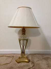 Vintage Brass & Glass Lamp