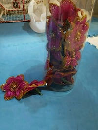 red and black floral ceramic vase Orangeville, L9W 5K7