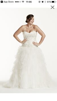 Plus size wedding dress-never worn for wedding or altered Madison, 07940