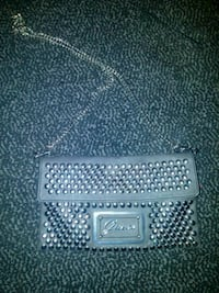 Authentic Guess chain link clutch