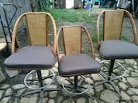 Set of 3 bar Stools cane and bamboo 1975 - $60   Philadelphia, 19135