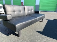 Black leather bed sofa Suitland-Silver Hill