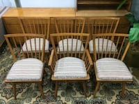 Mid Century vintage chair set (6) Burke