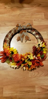 brown and red floral wreath Chicago, 60666
