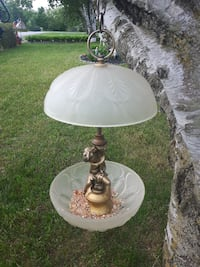 white and brown table lamp Quinte West, K8V 5P4