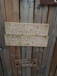 brown wood frame with You be my glass of wine print