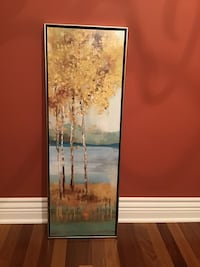 "Canvas painting with silver distressing frame 14""x37. Brossard, J4Y 2J7"
