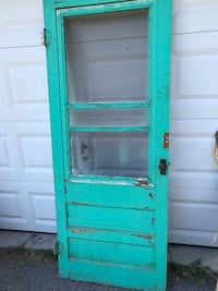 Beautiful Antique Wood Teal colour Door. Wooden bed head board Ottawa, K0A 3H0