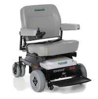 black and gray mobility scooter null