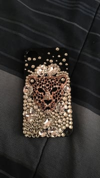 sequin Cheetah studded iPhone case