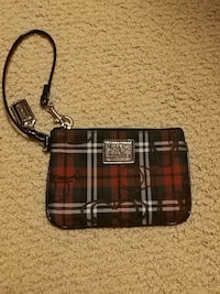 red, black, white plaid wristlet Victoria, V8Z 6B2