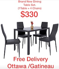 Brand New in Box Dining Table Set $330 Free Delivery  Ottawa, K1V