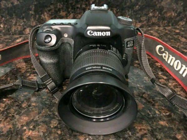 Canon EOS 40D camera with 18-55mm lens