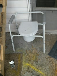 white and gray commode chair Chicago, 60602