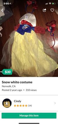 Snow White costume  West Covina