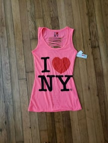 I ❤ NY tank with slit back (never worn)