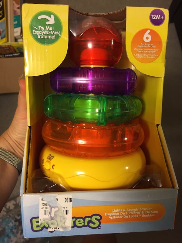 Light up stacking rings toy. Unused  6a33e048-9463-445d-8edb-ab726381335a