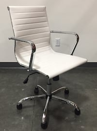 New in box $55 each mid back PU leather ribbed executive modern contemporary office chair 3 colors Whittier, 90605