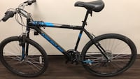 black and blue Salcano hardtail mountain bike Toronto, M8V 1B7