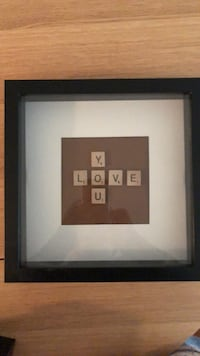 """Handmade """"love you"""" scrabble picture Coquitlam, V3K 6Y1"""