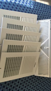 Six white steel louver wall vent frames North Charleston, 29406