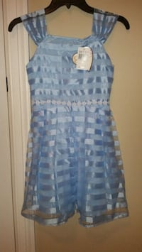 New Girl's Light Blue Dress Size 10