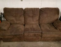 Brown  double reclining couch     Edmonton, T5E 0L8
