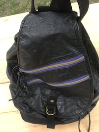Black and purple leather backpack/purse Lino Lakes, 55014