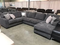 gray fabric sectional sofa with throw pillows Gresham, 97080