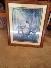 large picture of mother and daughter glass framed