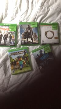 5 xb1 games all for 50$  Mississauga, L5B