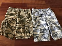 two gray and black camouflage shorts Pickering, L1V 7C9