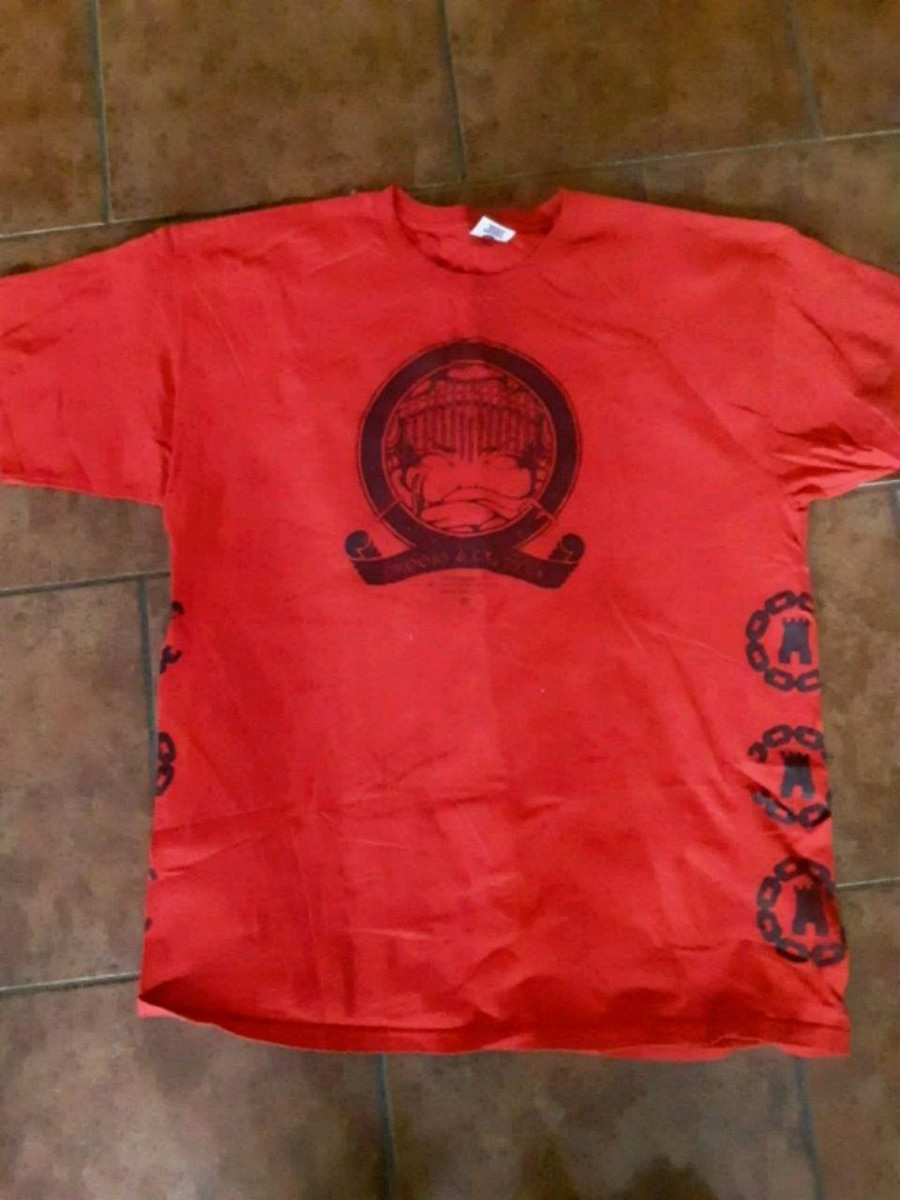 Used, red and black crew neck shirt for sale  Las Cruces