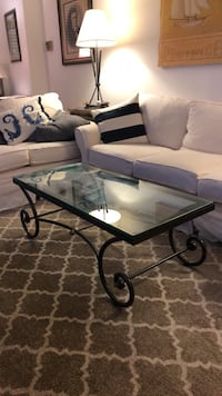 Glass top coffee table 39 km
