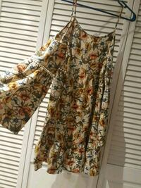 women's brown and white floral dress Escondido