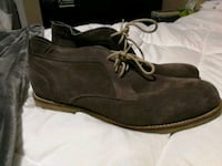 Mens grey suede high top shoes/boots Newmarket, L3Y 5S5