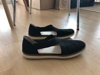 Black Slip On Shoes- canvas size 8.5 Vancouver, V5N 2K4